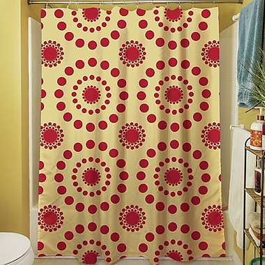 Manual Woodworkers & Weavers Tropical Breeze Shower Curtain; Red