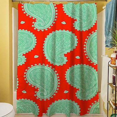 Manual Woodworkers & Weavers Paisley Floral Shower Curtain