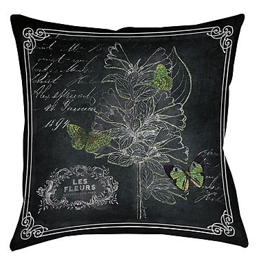 Manual Woodworkers & Weavers Chalkboard Botanical 2 Printed Throw Pillow; 14'' H x 14'' W x 3'' D
