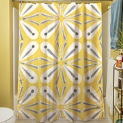 Manual Woodworkers & Weavers Citron and Slate I Shower Curtain