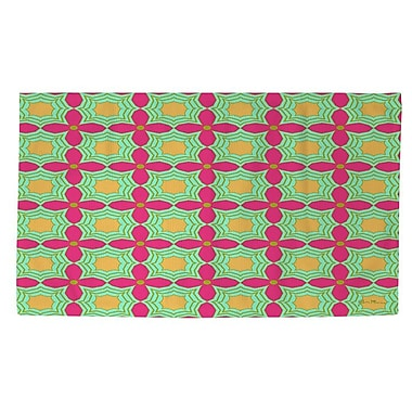 Manual Woodworkers & Weavers Anima 2 Star Pink/Green Area Rug; 4' x 6'
