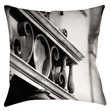 Manual Woodworkers & Weavers Urban Detail Scroll Printed Throw Pillow; 16'' H x 16'' W x 4'' D