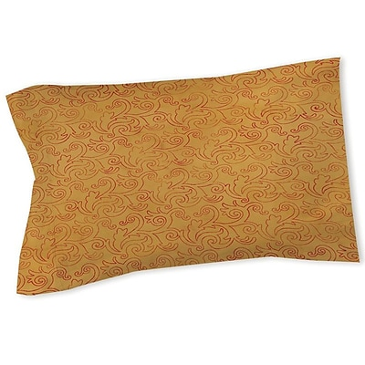 Manual Woodworkers & Weavers Zinnia Damask Sham; Queen/King