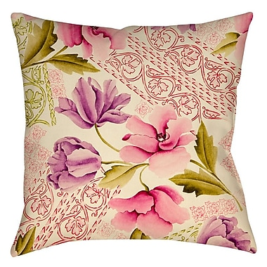 Manual Woodworkers & Weavers Tulips and Lace Printed Throw Pillow; 16'' H x 16'' W x 4'' D
