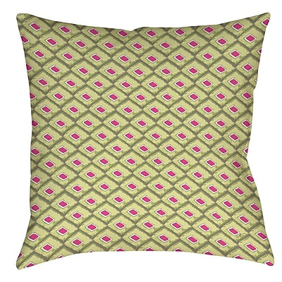Manual Woodworkers & Weavers Butterfly Diamond Printed Throw Pillow; 20'' H x 20'' W x 5'' D