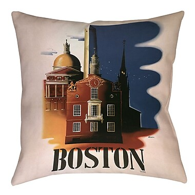 Manual Woodworkers & Weavers Boston Architecture Printed Throw Pillow; 26'' H x 26'' W x 7'' D