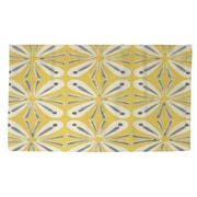 Manual Woodworkers & Weavers Citron and Slate 1 Yellow/Grey Area Rug; 2' x 3'