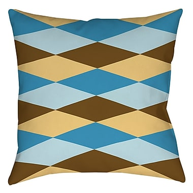 Manual Woodworkers & Weavers Bold in Blue Argyle Printed Throw Pillow; 18'' H x 18'' W x 5'' D