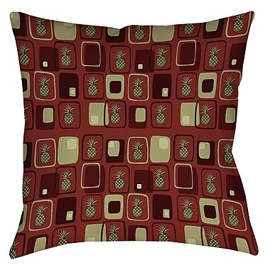 Manual Woodworkers & Weavers Deco Pineapple Printed Throw Pillow; 26'' H x 26'' W x 7'' D