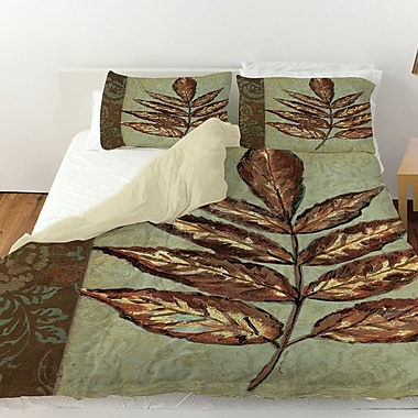 Manual Woodworkers & Weavers Golden Leaf 2 Duvet Cover; Twin