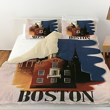 Manual Woodworkers & Weavers Boston Architecture Duvet Cover; Queen