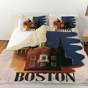 Manual Woodworkers & Weavers Boston Architecture Duvet Cover; Twin