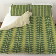 Manual Woodworkers & Weavers Tropical Breeze Patterns 39 Duvet Cover; Queen