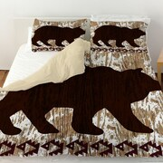Manual Woodworkers & Weavers Wilderness Bear Duvet Cover; Twin