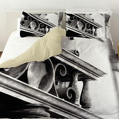 Manual Woodworkers & Weavers Urban Detail Scroll Duvet Cover; Queen