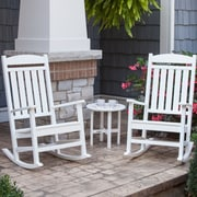 Ivy Terrace 3 Piece Rocker Seating Group; White