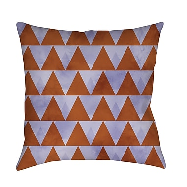 Manual Woodworkers & Weavers Triangles Printed Throw Pillow; 16'' H x 16'' W x 4'' D