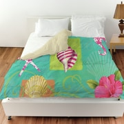 Manual Woodworkers & Weavers Tropical Beach Duvet Cover; King