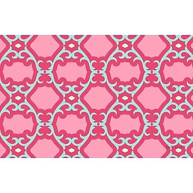 Manual Woodworkers & Weavers Francie Trellis Pink Geometric Area Rug; 3'1'' x 1'10.5''