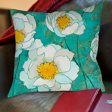 Manual Woodworkers & Weavers Flower Field Printed Throw Pillow; 16'' H x 16'' W x 4'' D