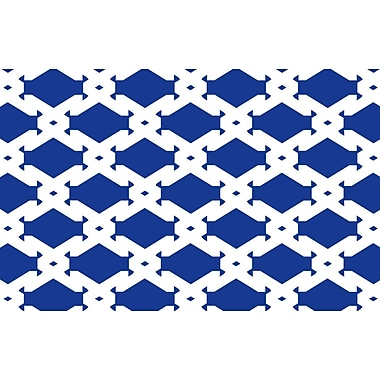 Manual Woodworkers & Weavers Modern Geometric Sapphire Rug; 5'10'' x 4'4''