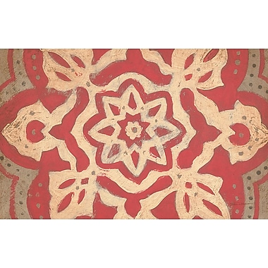 Manual Woodworkers & Weavers Golden Medallion Red Area Rug; 5'10'' x 4'4''