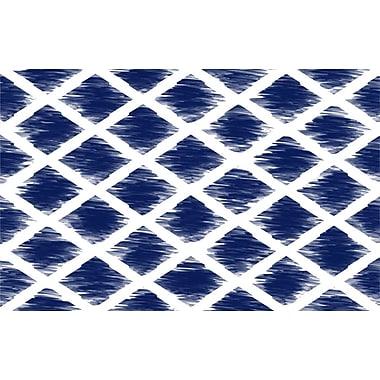 Manual Woodworkers & Weavers Diamonds Navy Area Rug; 5'10'' x 4'4''