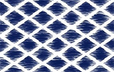 Manual Woodworkers & Weavers Diamonds Navy Area Rug; 3'1'' x 1'10.5''