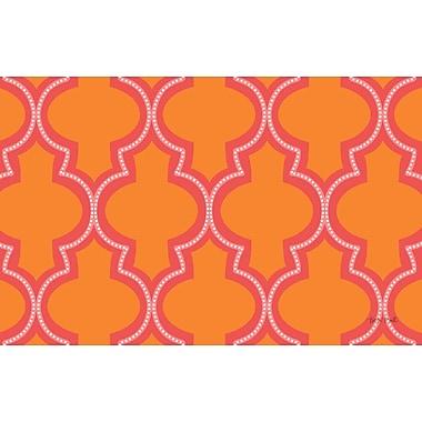 Manual Woodworkers & Weavers Ogee Orange Dots Area Rug; 5'10'' x 4'4''
