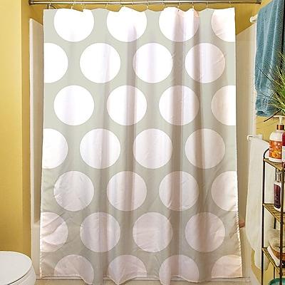 Manual Woodworkers & Weavers Amina Polka Dot Shower Curtain