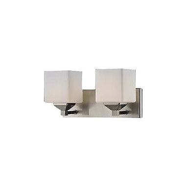 Z-Lite Quube 2-Light Vanity Light; Brushed Nickel