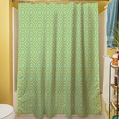 Manual Woodworkers & Weavers Green & Purple Shower Curtain; Green