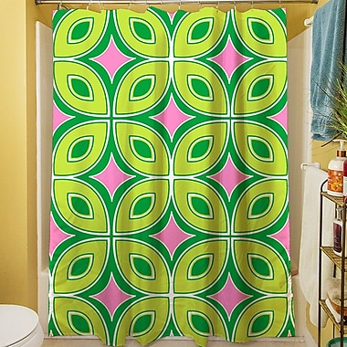 Manual Woodworkers & Weavers Lorraine Links Shower Curtain; Green