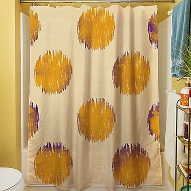 Manual Woodworkers & Weavers Big Dots Shower Curtain; Gold