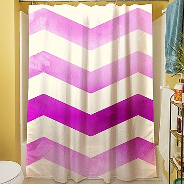 Manual Woodworkers & Weavers Ombre Shower Curtain; Pink