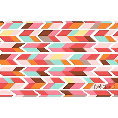 Manual Woodworkers & Weavers Arrowhead Pink/Blue Chevron Area Rug; 3'1'' x 1'10.5''