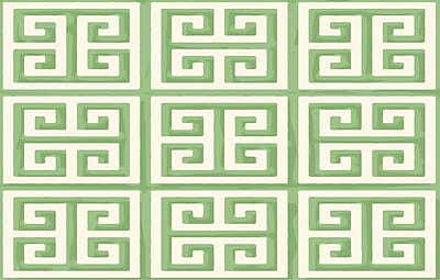 Manual Woodworkers & Weavers Greek Key II Mint Geometric Area Rug; 5'10'' x 4'4''