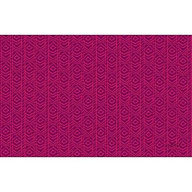 Manual Woodworkers & Weavers Sketched Ikat Purple Rug; 5'10'' x 4'4''