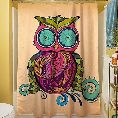 Manual Woodworkers & Weavers Owl Branch Gregir Shower Curtain