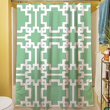Manual Woodworkers & Weavers Modern Geometric Mint Shower Curtain