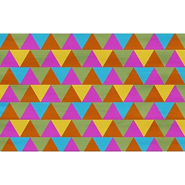 Manual Woodworkers & Weavers Triangles Multi Rug; 3'1'' x 1'10.5''