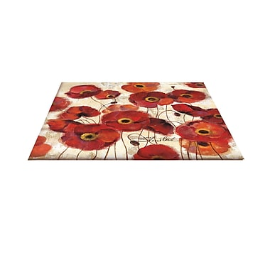 Manual Woodworkers & Weavers Bold Poppies Red Area Rug; 3'1'' x 1'10.5''