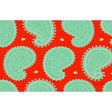 Manual Woodworkers & Weavers Paisley Mint Floral Area Rug; 3'1'' x 1'10.5''