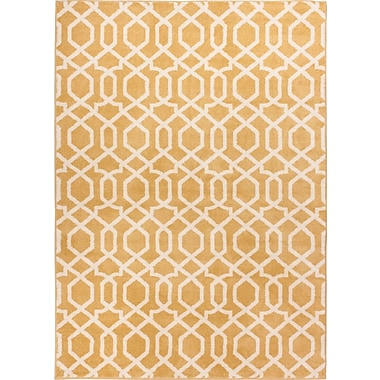 Well Woven Sydney Geo Helix Gold Area Rug; 3'3'' x 4'7''