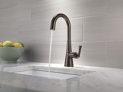 Delta Single Handle Bar Prep Faucet; Venetian Bronze