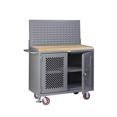Little Giant USA Mobile Service 54''W Butcher Block Top Workbench