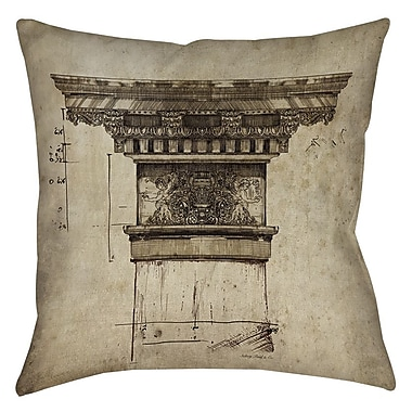 Manual Woodworkers & Weavers Column I Printed Throw Pillow; 14'' H x 14'' W x 3'' D