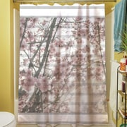 Manual Woodworkers & Weavers Cherry Blossom Stripes Shower Curtain