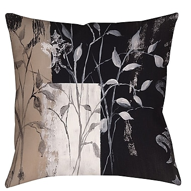 Manual Woodworkers & Weavers African Leaf Abstract Printed Throw Pillow; 18'' H x 18'' W x 5'' D