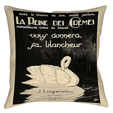 Manual Woodworkers & Weavers Swan Cremes Printed Throw Pillow; 18'' H x 18'' W x 5'' D